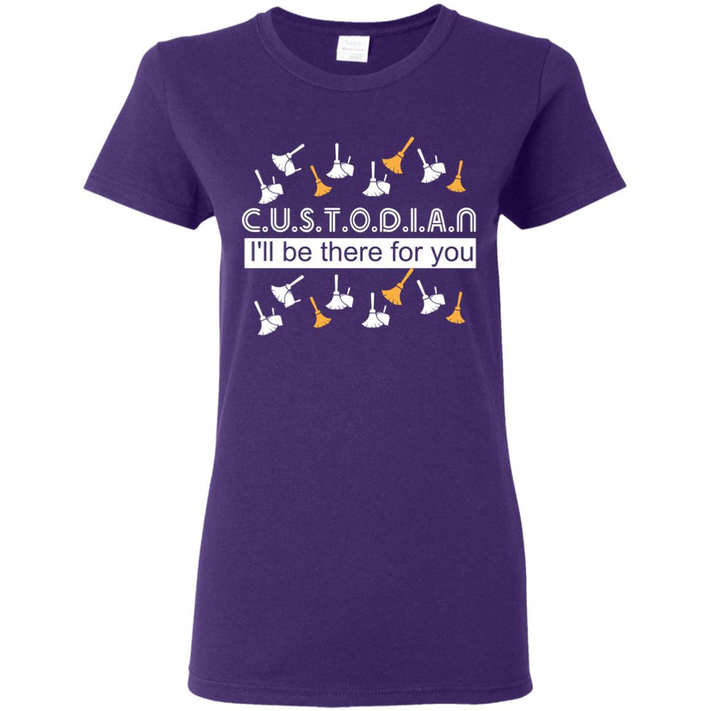 Wonderful Black Custodian - I'll Be There For You T Shirts As Gifts