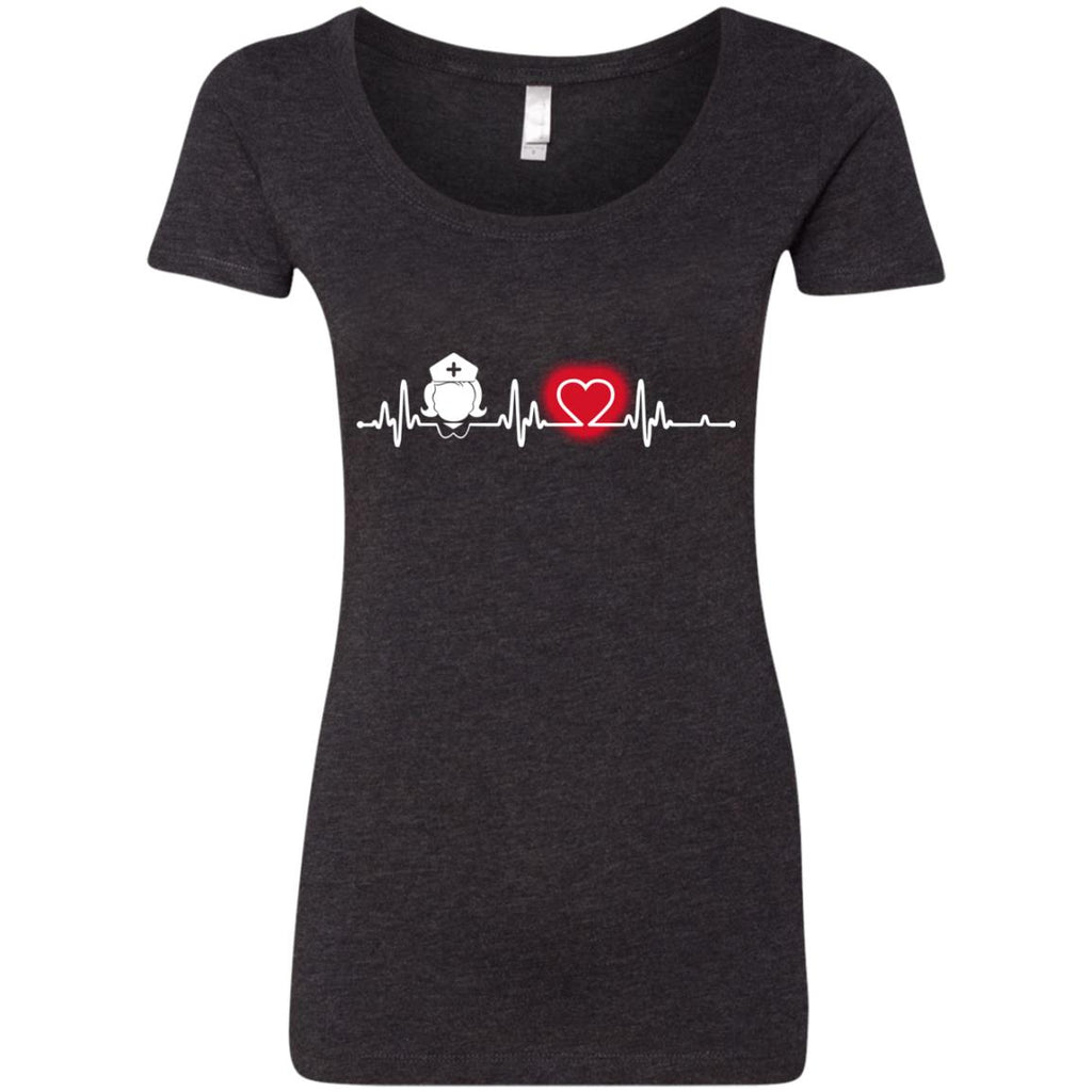Heart Beat Red Nurse Midwives T Shirts