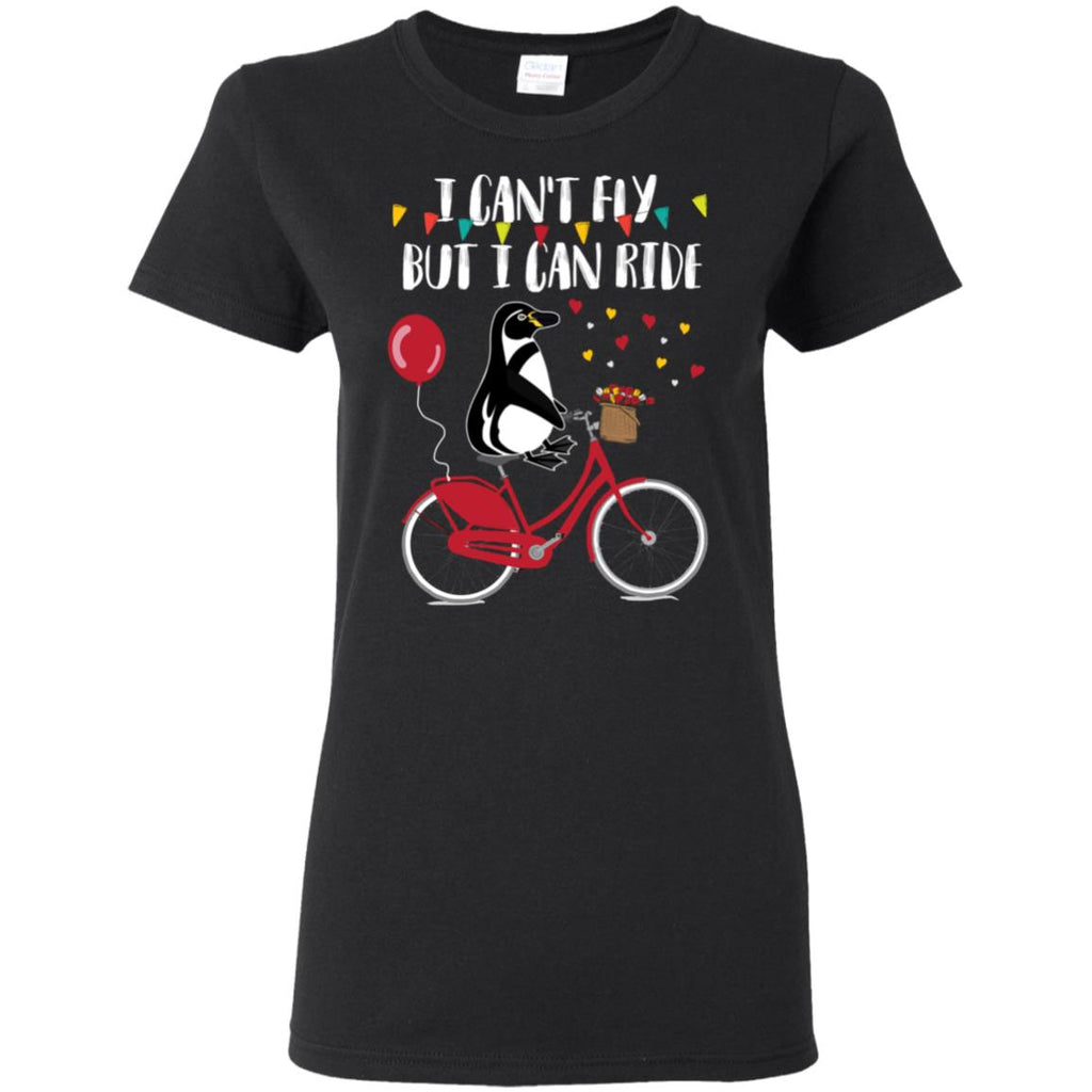 I Can't Fly But I Can Ride Bicycle Penguin T Shirts