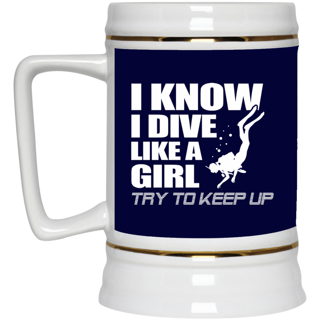 Nice Diving Mugs. I know I dive like a girl, try to keep up