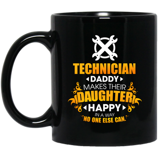 Technician Daddy Makes Their Daughter Happy Mugs
