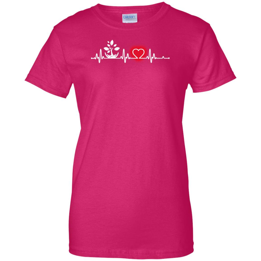 Heart Beat Red Environmental Scientist Tshirt For Lover