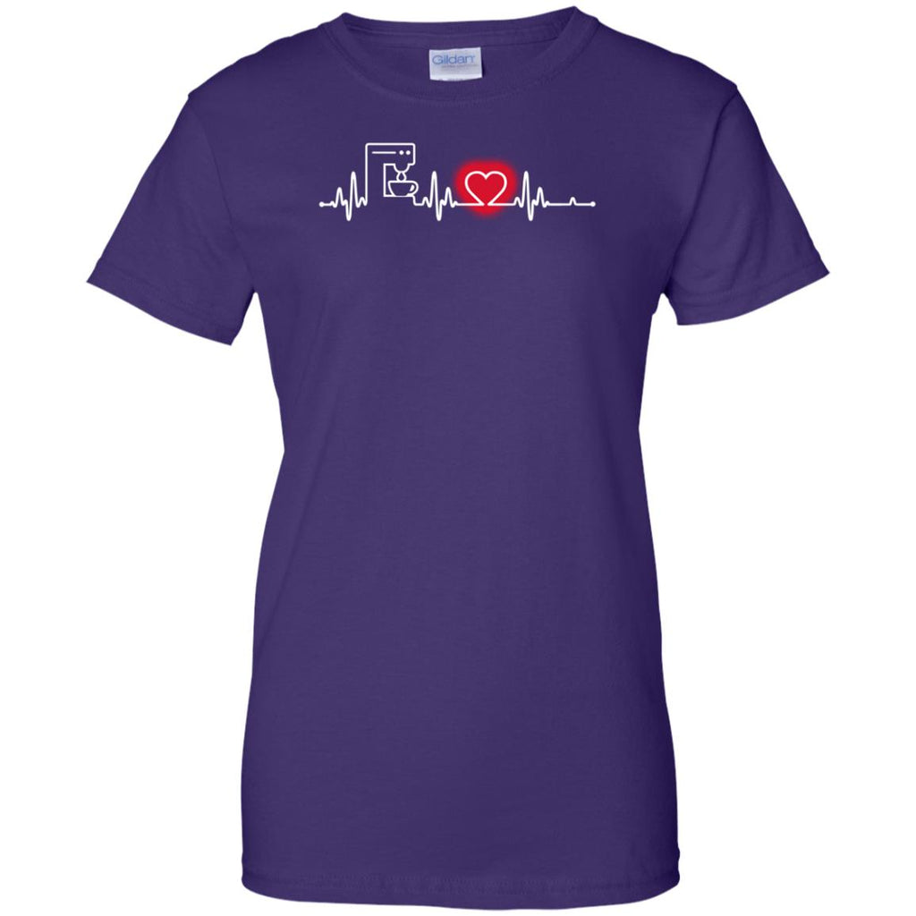Heart Beat Red Cafeteria Worker Tshirt for Lovers