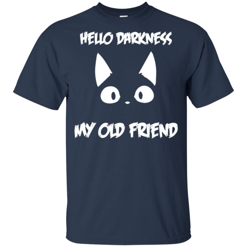 Hello darkness my old friend Kitten Tee Shirt For Cat Lover
