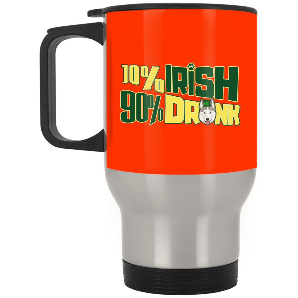 Nice Husky Mugs - 10% Irish 90% Drunk is a cool gift for friend
