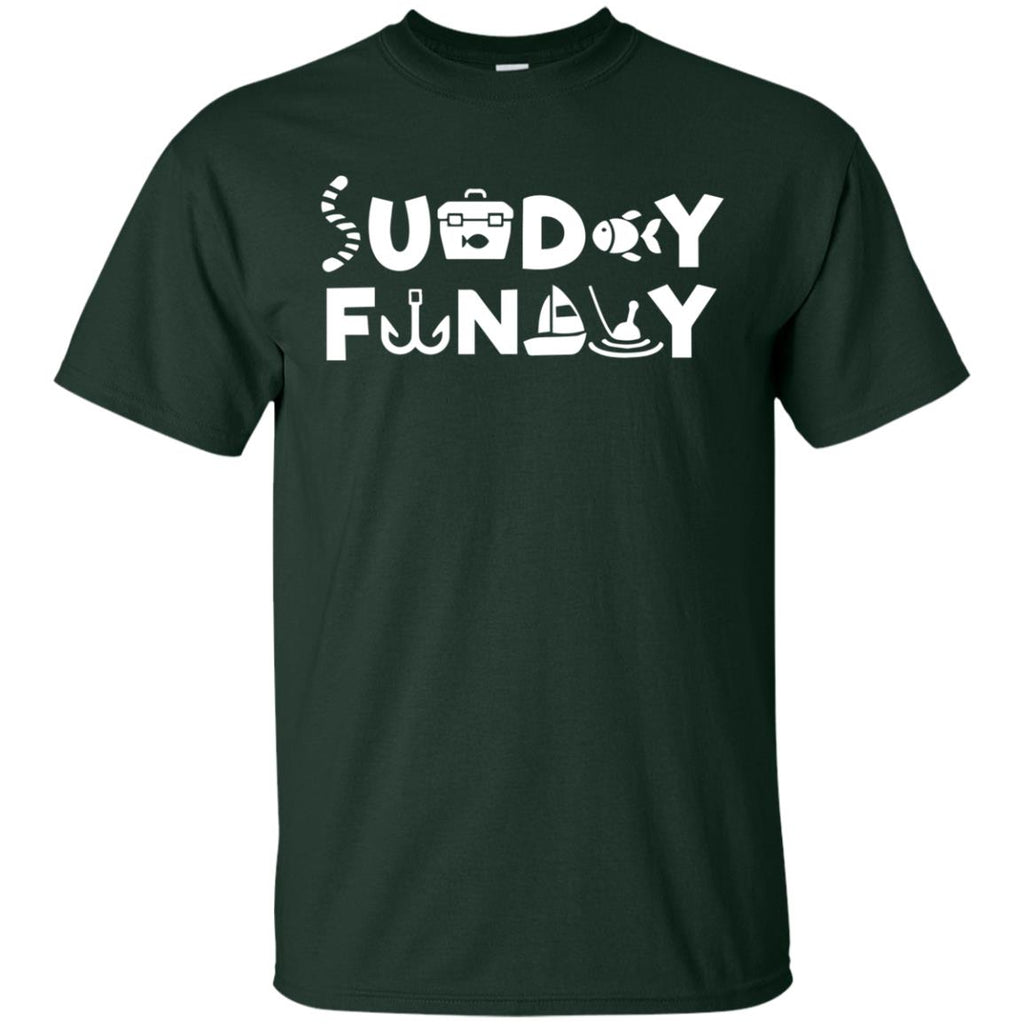 Nice Fishing Tee Shirt Sunday Funday Fishing is cool gift for you
