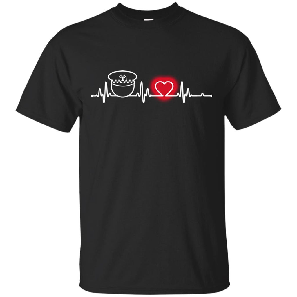 Heart Beat Red Bus Driver Tshirt For Lover