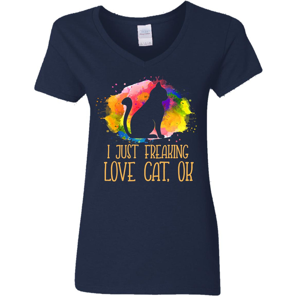 Watercolor I Just Freaking Love Cat T Shirt For Lover