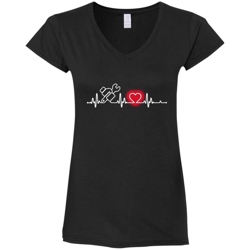 Heart Beat Red Foreman Tshirt For Lover