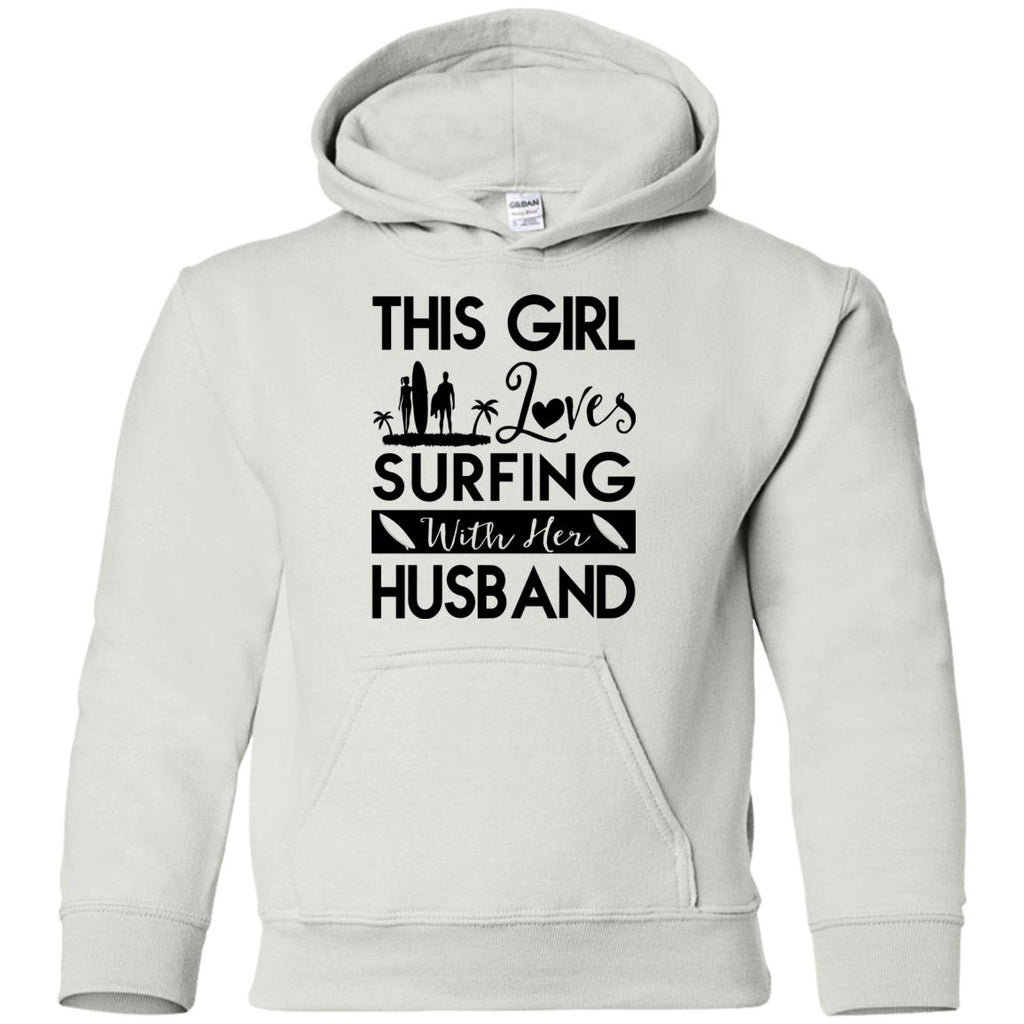 This Girl Loves Surfing With Her Husband Tshirt Gift