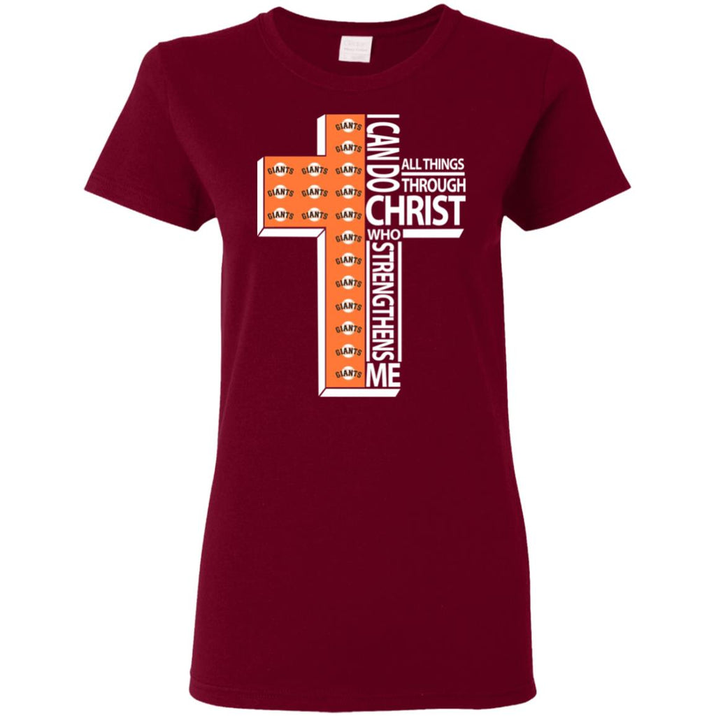 Gorgeous I Can Do All Things Through Christ San Francisco Giants T Shirts