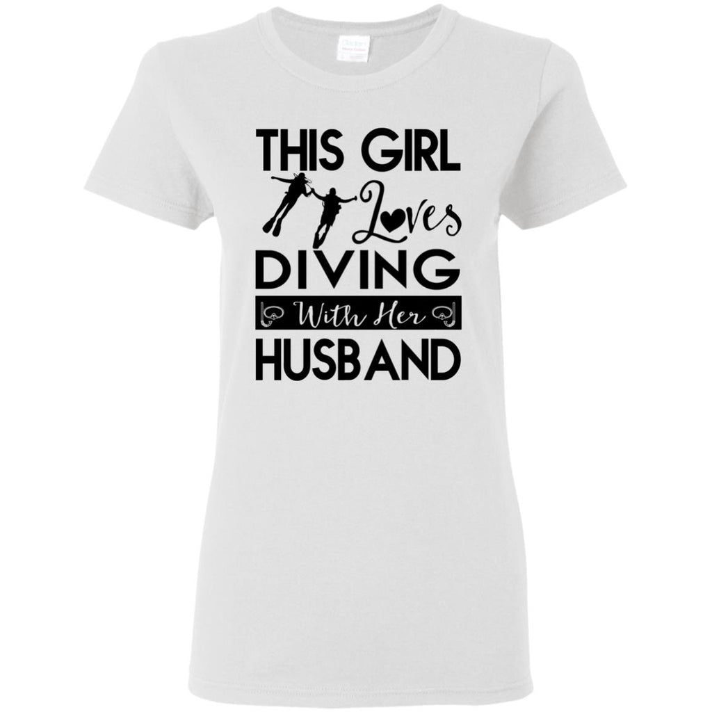This Girl Loves Diving With Her Husband Gift Tee Shirt