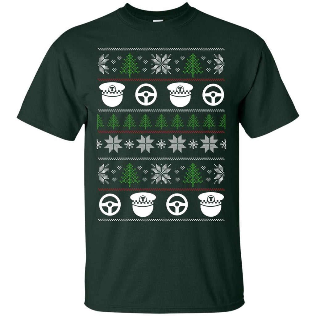 Ugly Sweater Bus Driver Symbol Tee Shirt Gift