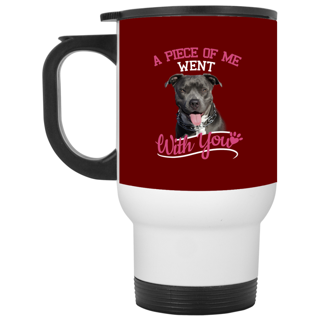 A Piece Of Me Went With You Pitbull Mugs