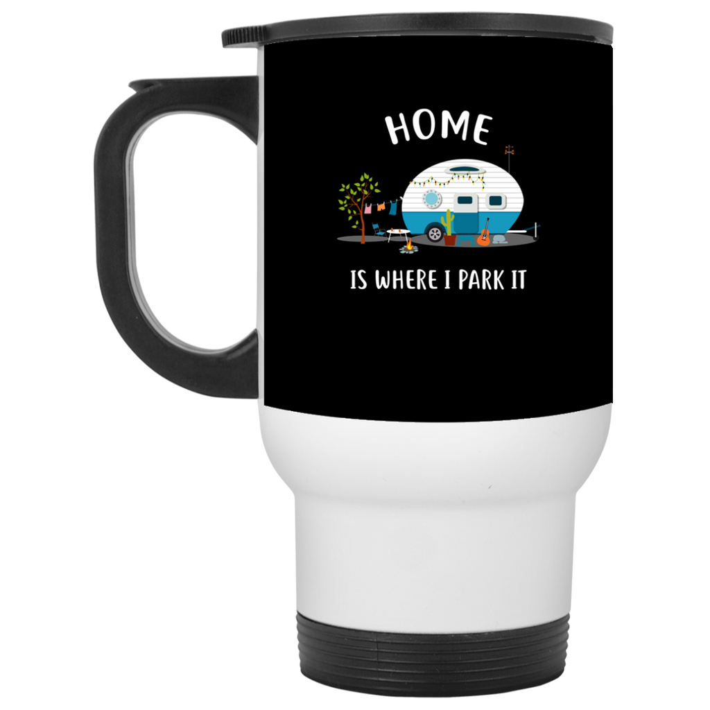 Nice Camping Mugs - Home Is Where I Park It, is cool gift for you