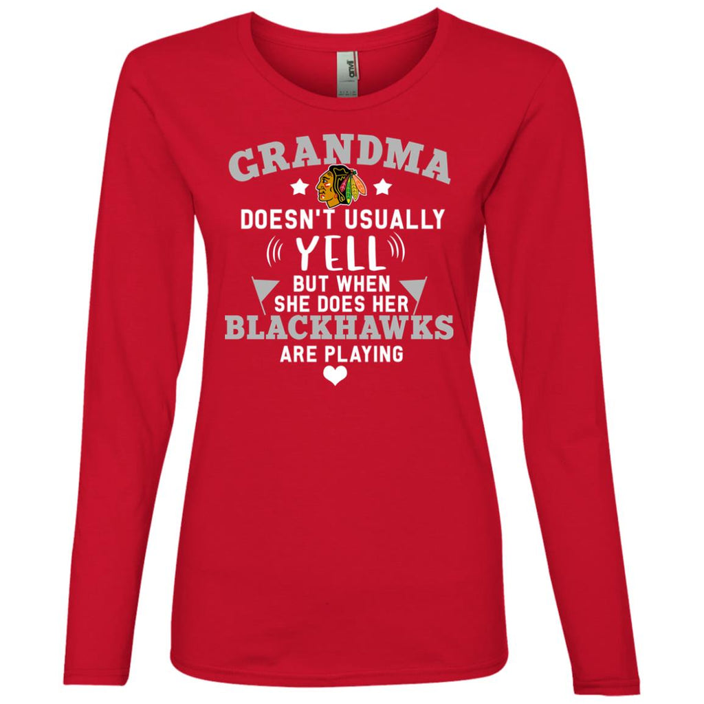 Cool But Different When She Does Her Chicago Blackhawks Are Playing T Shirt