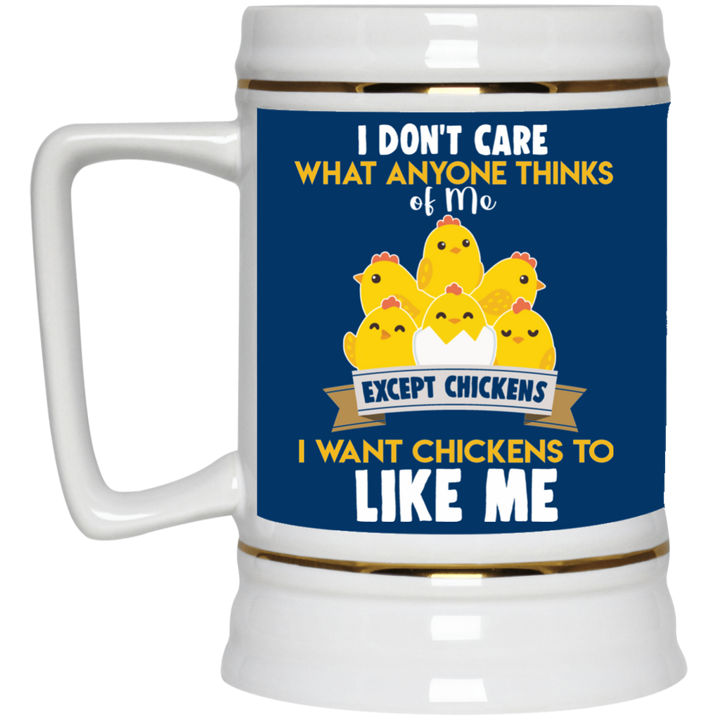 I Don't Care What You Think Of Me Chicken Mugs