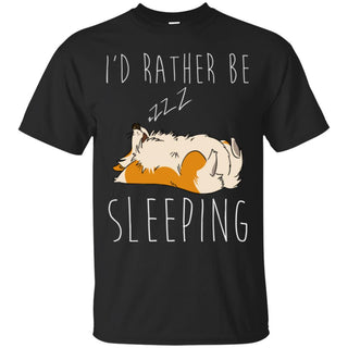 I'd Rather Be Sleeping Corgi Tshirt for pembroke dog gift