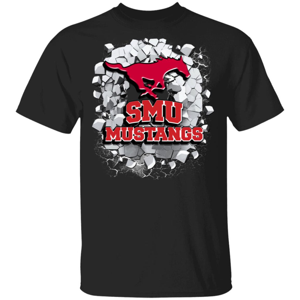 Amazing Earthquake Art SMU Mustangs T Shirt
