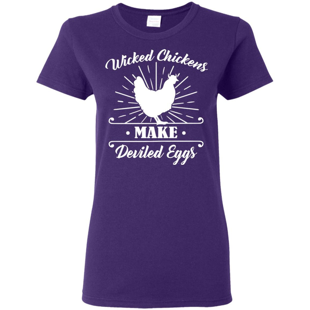 Wicked Chickens Tee Shirt For Farmer With Farm Living Lover