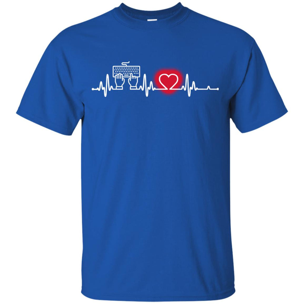 Heart Beat Red Information Technology Tshirt For Lover