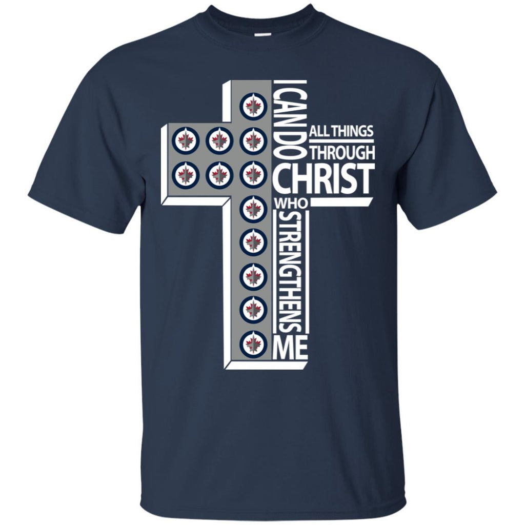 Gorgeous I Can Do All Things Through Christ Winnipeg Jets Tshirt