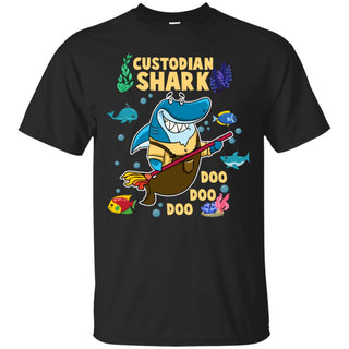 Custodian Shark Doo Doo Doo T Shirts