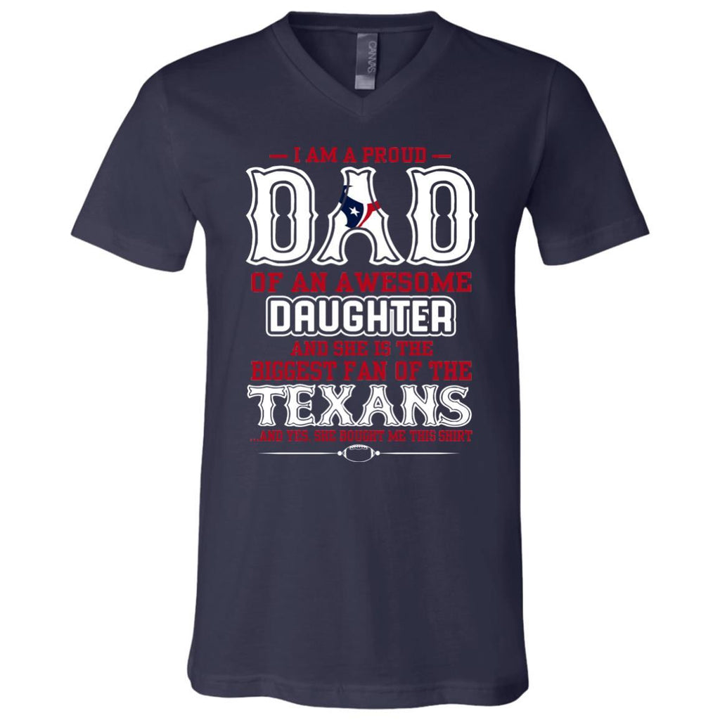 Proud Of Dad with Daughter Houston Texans Tshirt For Fan