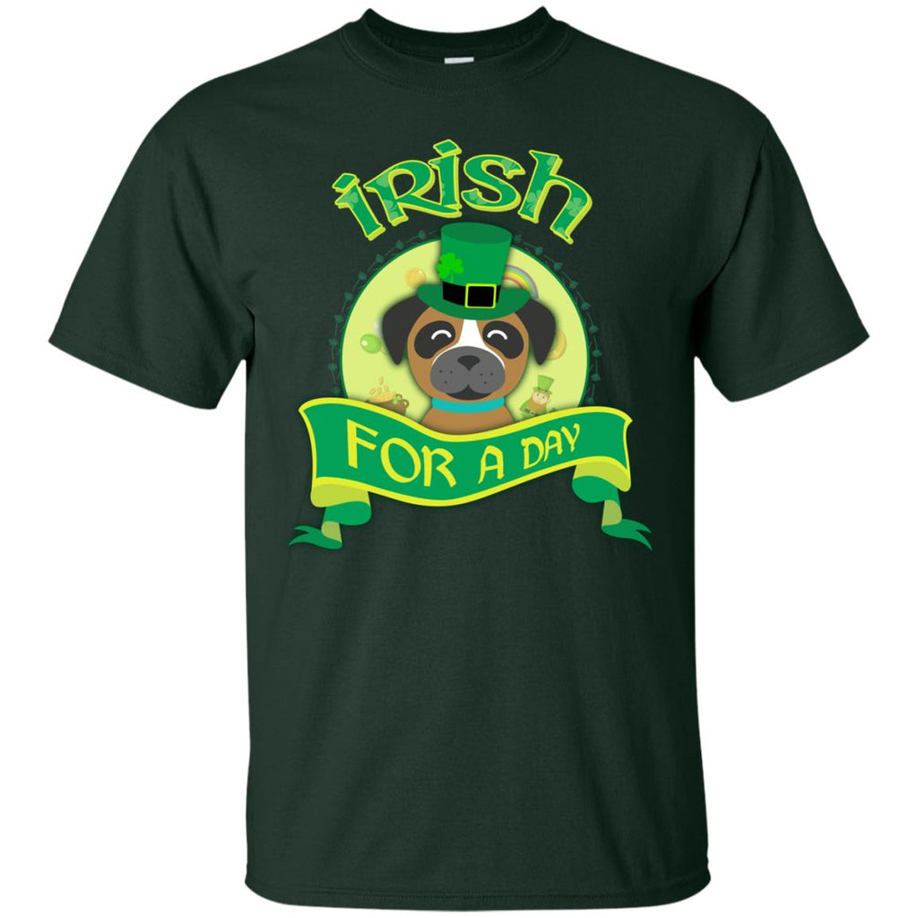 Funny Boxer Dog Shirt Irish For A Day For St Patrick's Day Gift