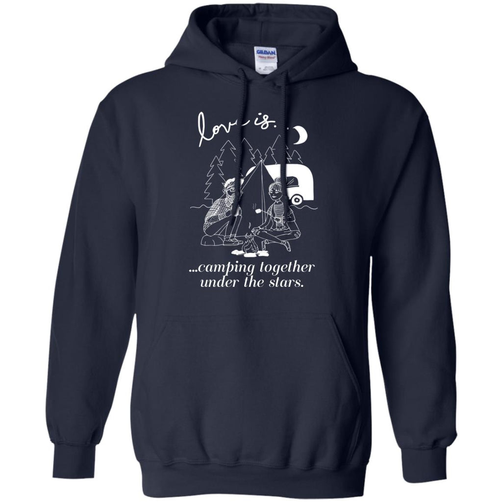 Love Is Camping Together Under The Stars Camper Tshirt For Lover