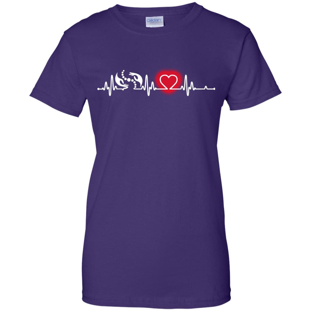 Heart Beat Red Physiotherapist Tshirt For lover