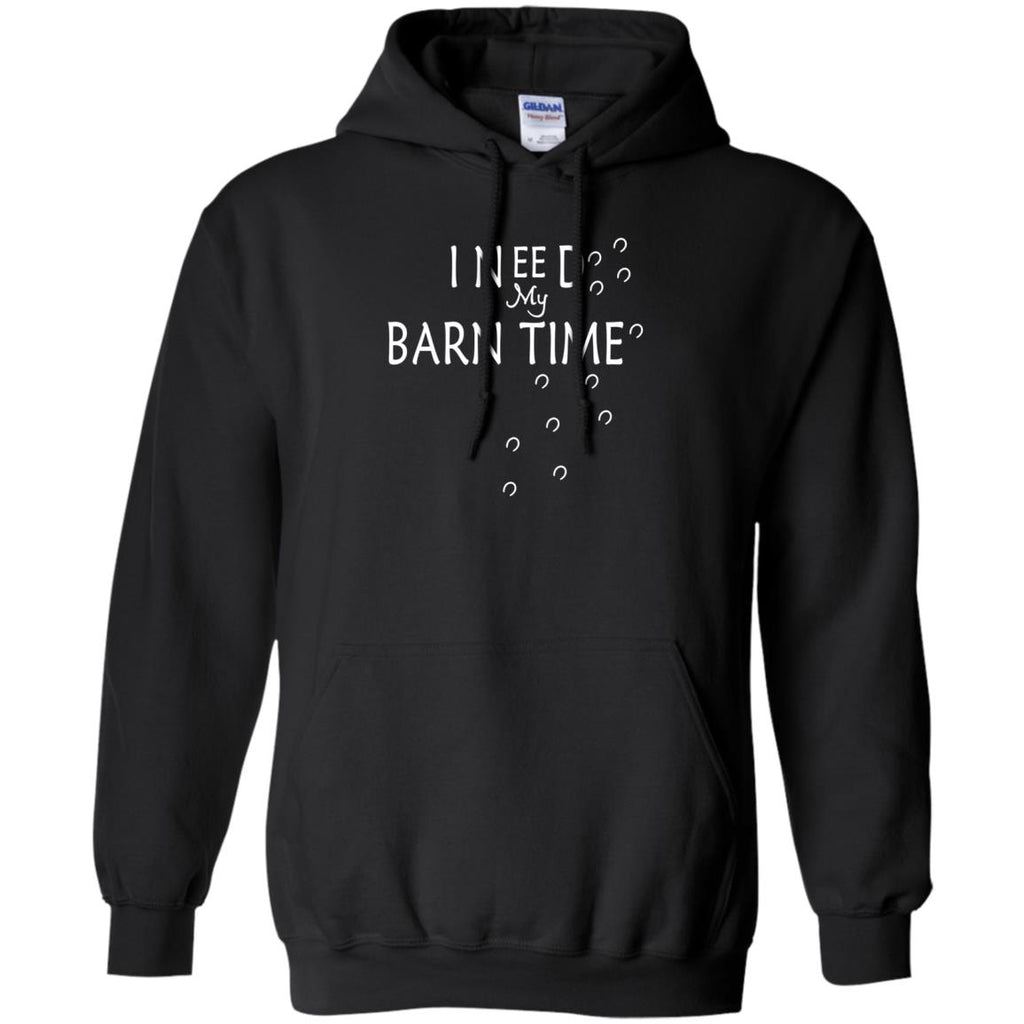 I Need My Barn Time Horse Black Tee shirt for equestrian gift