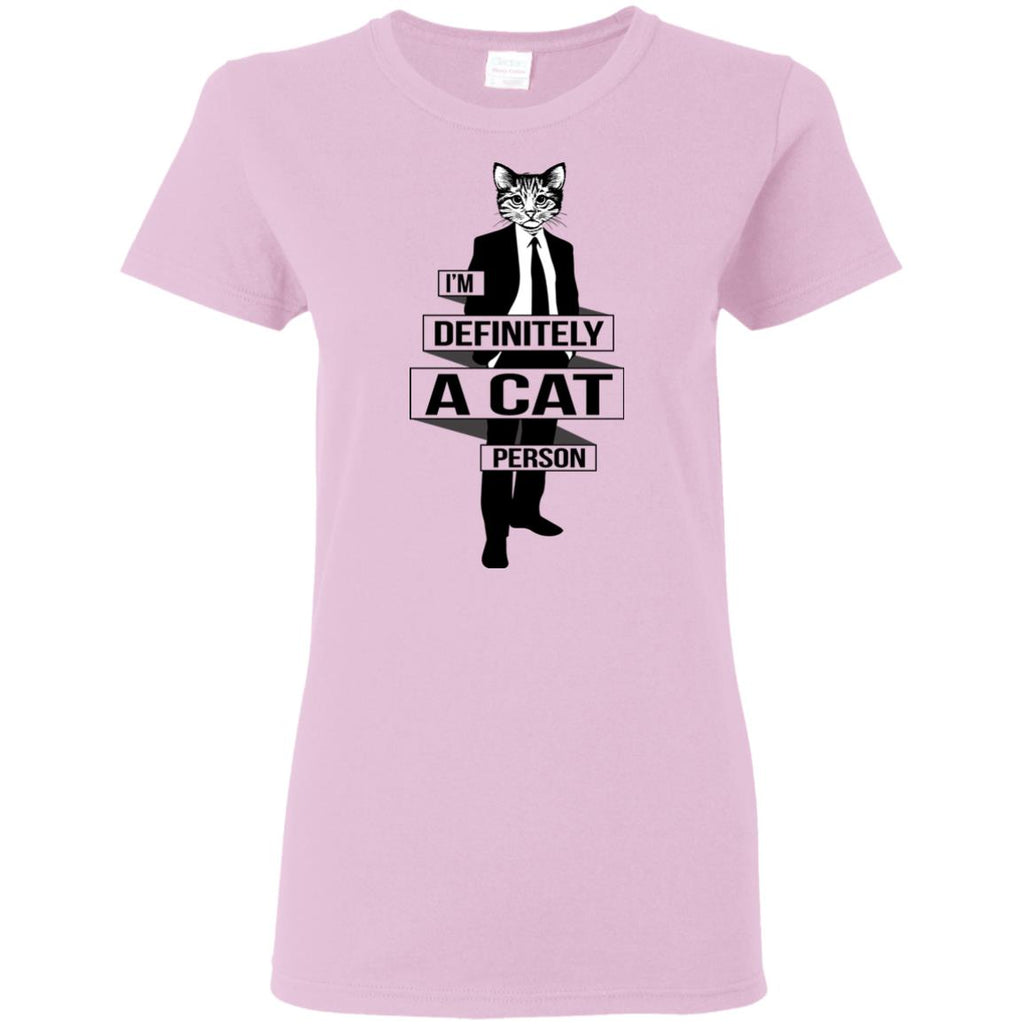 I'm Definitely A Cat Person cat tshirt for kitten gift