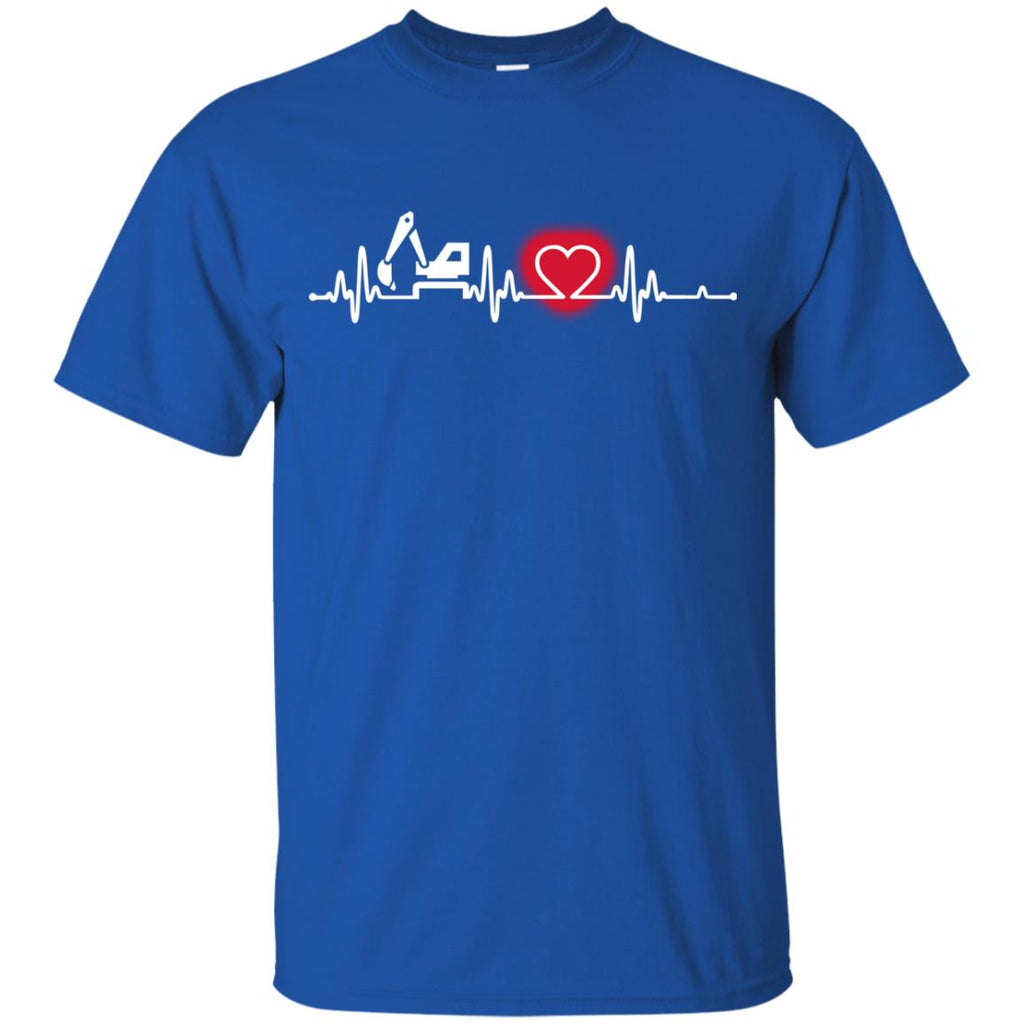 Heart Beat Red Material Handler Tshirt For Lover
