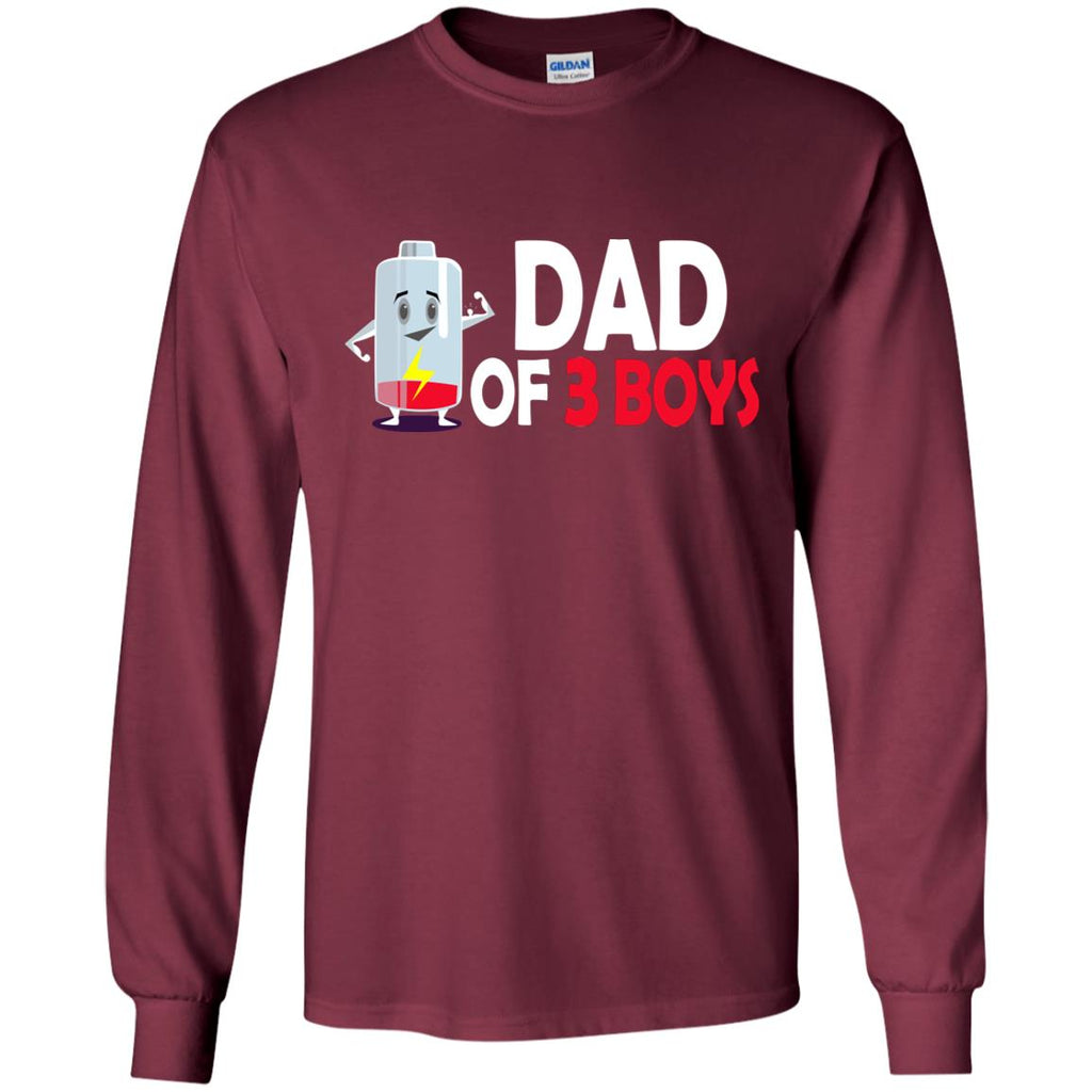 Dad Of 3 Boys T Shirt