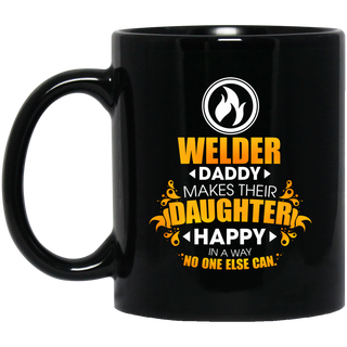 Welder Daddy Makes Their Daughter Happy Mugs