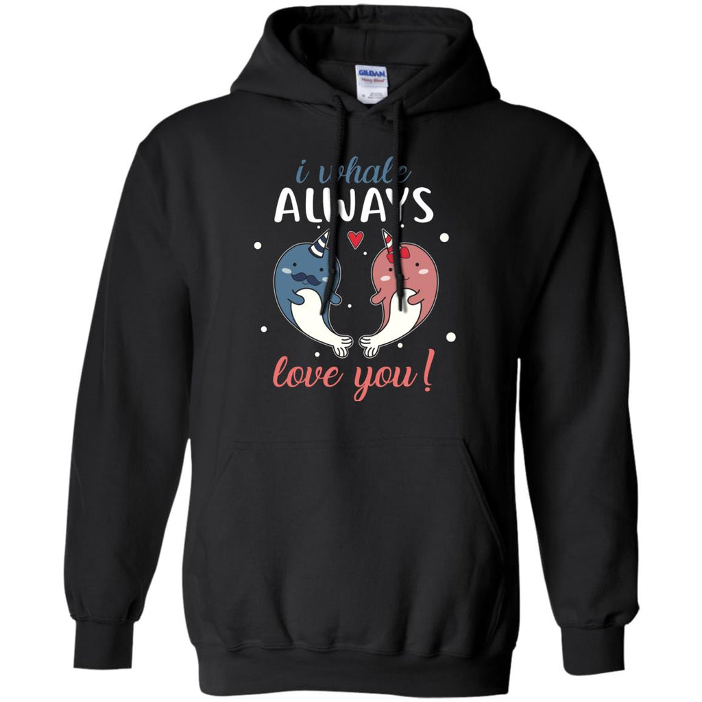 I Whale Always Love You Narwhal Couple Tee Shirt For Wild Animals Gift