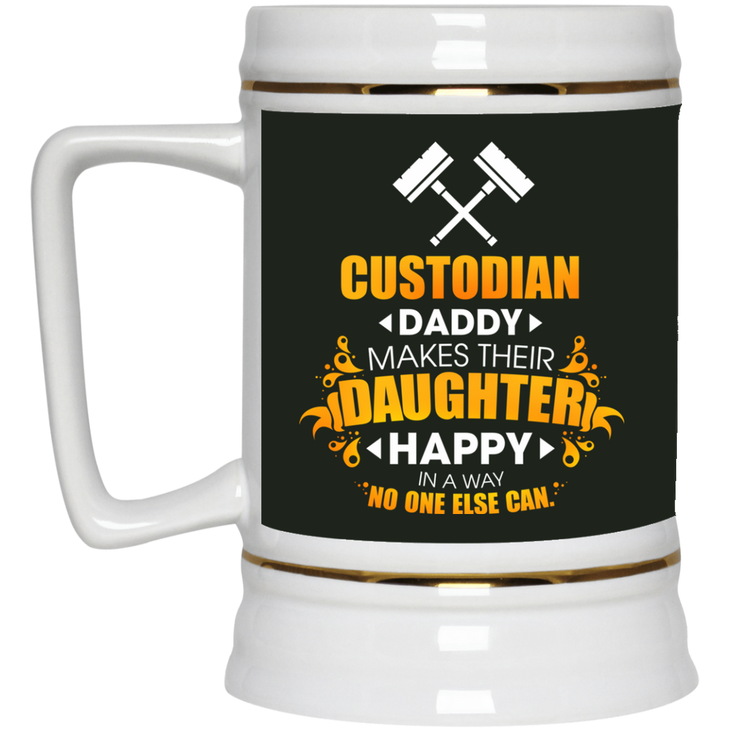 Custodian Daddy Makes Their Daughter Happy Mugs
