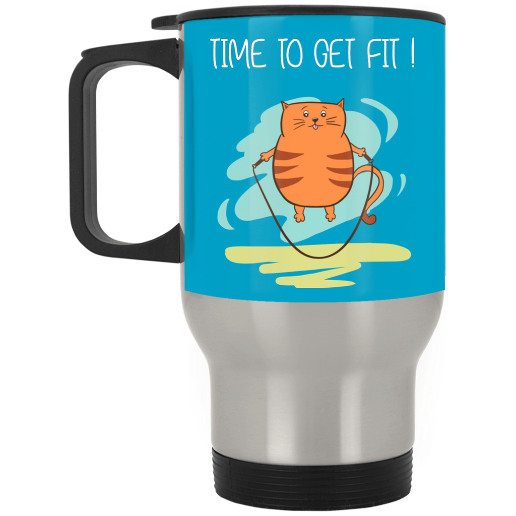 Time To Get Fit Cat Mugs