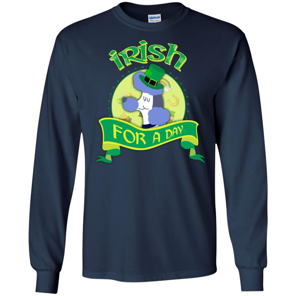 Funny Poodle Tshirt Irish For A Day St. Patrick's Day Gift