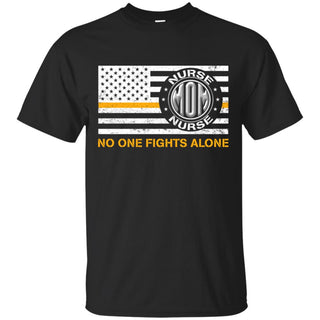 Mom Nurse No One Fights Alone T Shirt
