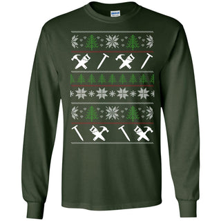 Ugly Sweater Carpenter Symbol Tee Shirt Gift