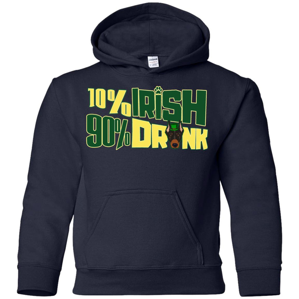 Nice Doberman Tshirt 10% Irish 90% Drunk is an awesome gift