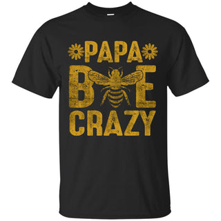 Papa Bee Crazy T Shirt Funny Family