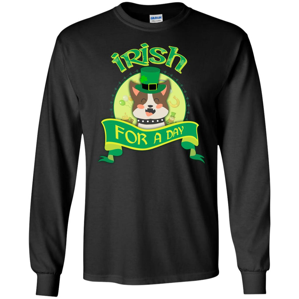 Funny Pitbull Tshirt Irish For A Day St. Patrick's Day Pittie Dog Gift