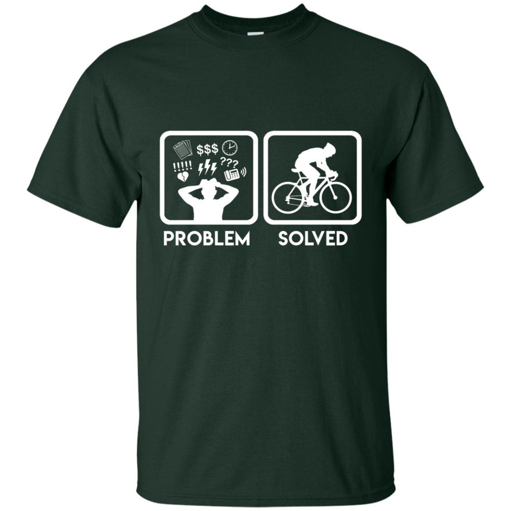 Nice Cycling Tee Shirt Problem Solved With Cycling is best gift for you