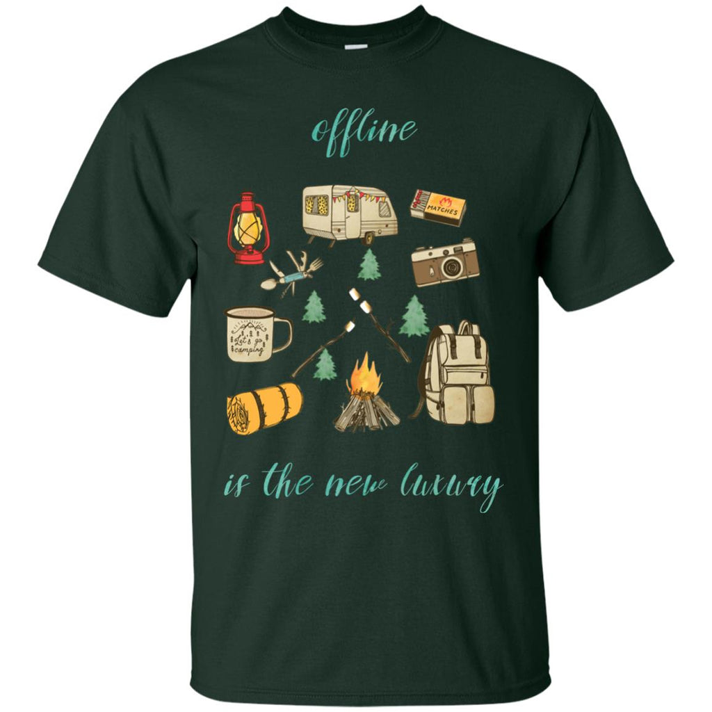 Black Offline Is The New Luxury Cute Shirts For Camping Lovers Tshirt