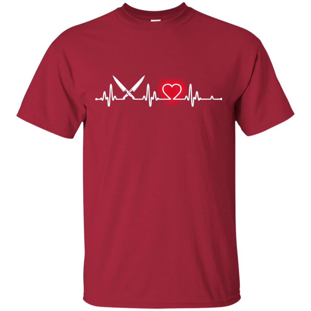 Heart Beat Red Chef Tshirt for Lover