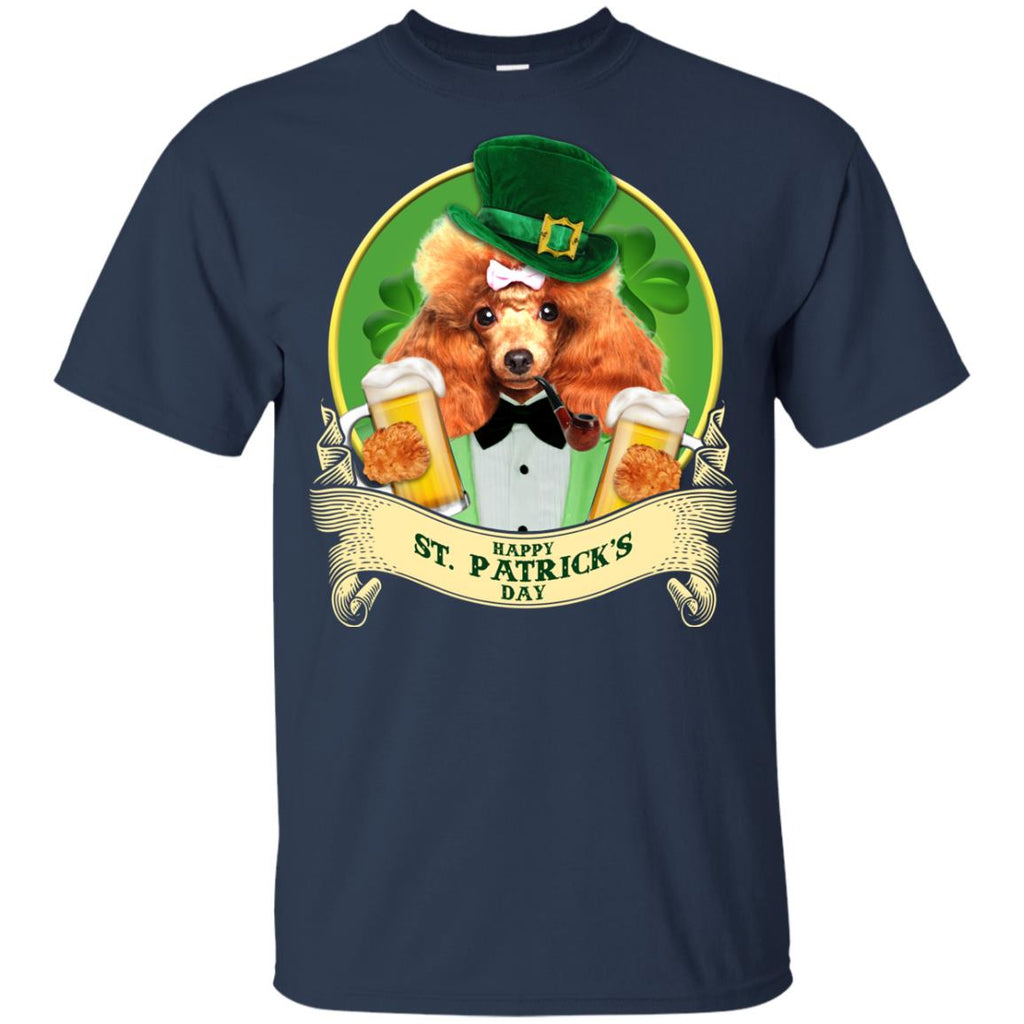 Funny Poodle Tshirt Happy St Patrick's Day Poo Dog Gift