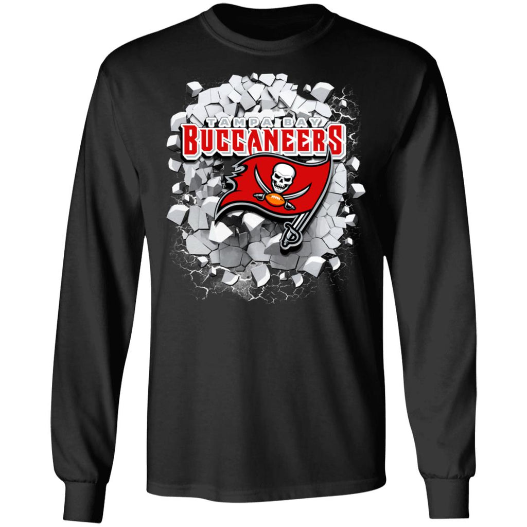 Amazing Earthquake Art Tampa Bay Buccaneers T Shirt